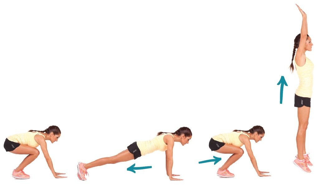Burpees with push-ups